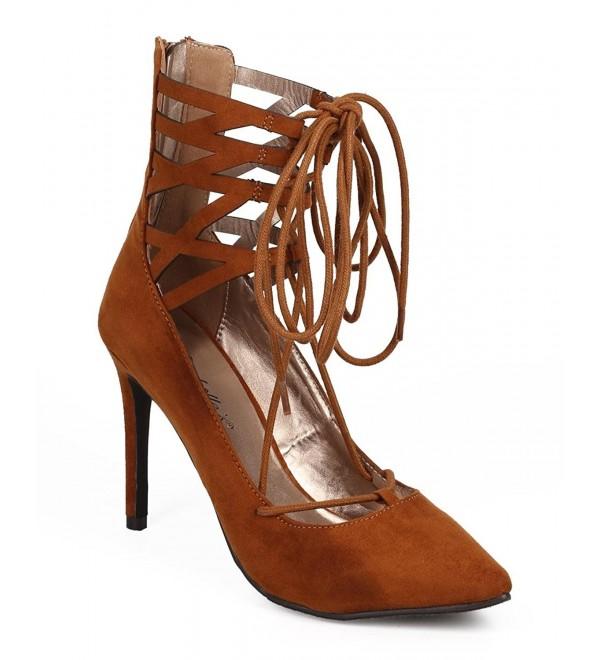 Breckelles Women Suede Pointy Stiletto