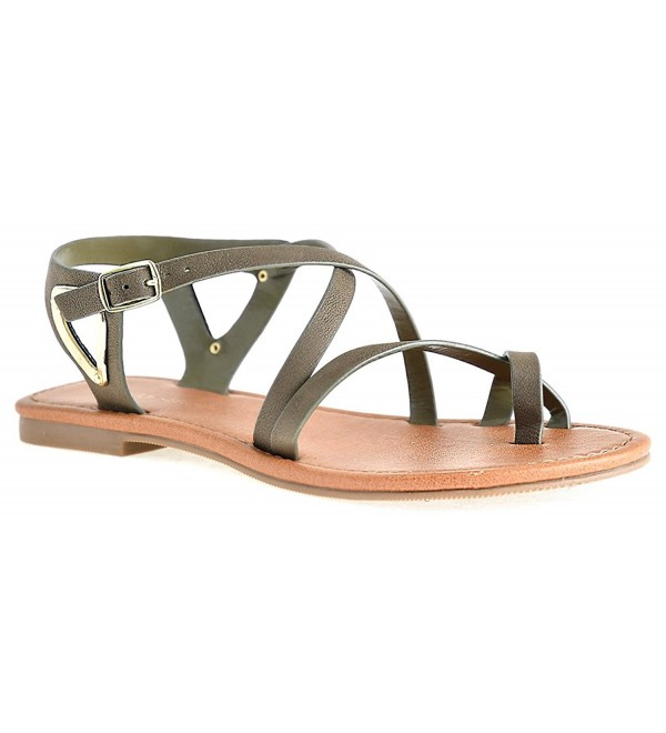 Womens Strappy Plated Sandals LUSTHAVE
