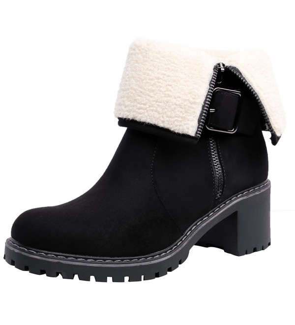 SHENBO Womens Booties 39 Black