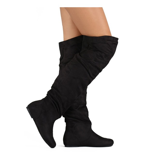 ShoBeautiful Womens Slouchy Boots Shoes