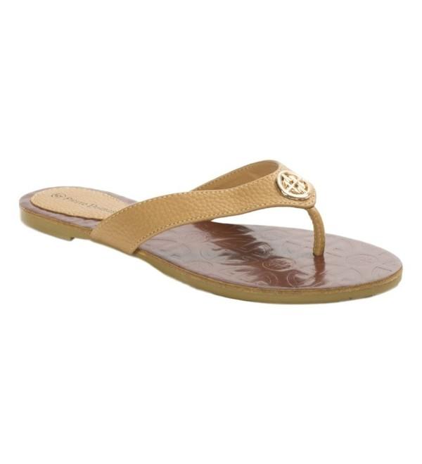 Pierre Dumas Flora 2 Leather Flip Flops