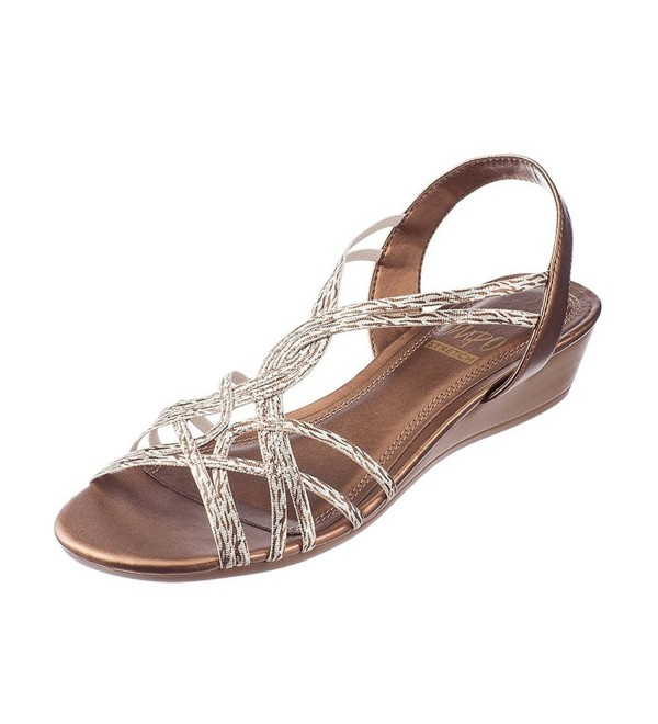 Roslyn Strappy Peep Toe Sandals Platino