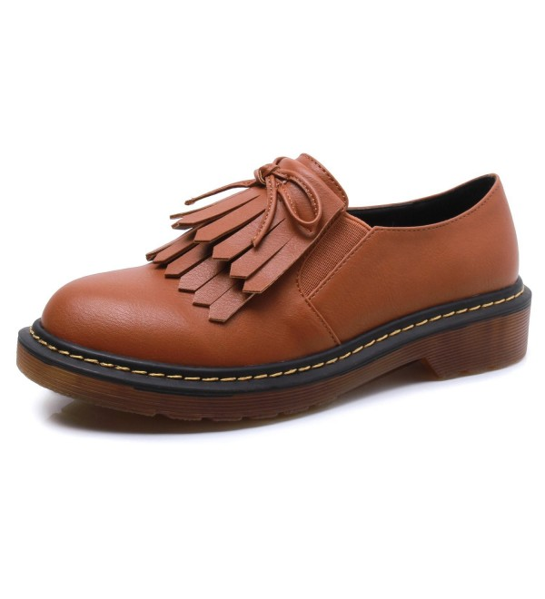 Smilun Women Brogues Classic Lace Up