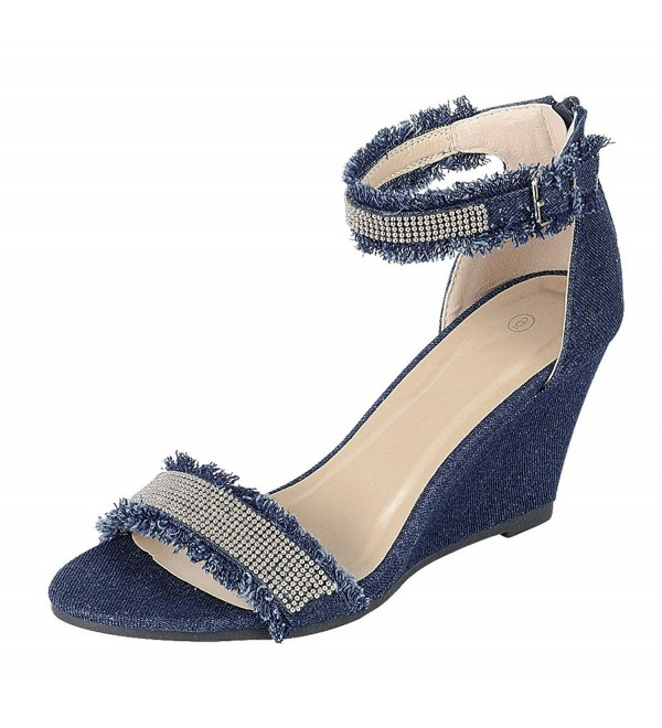 Cambridge Select Womens Frayed Strappy