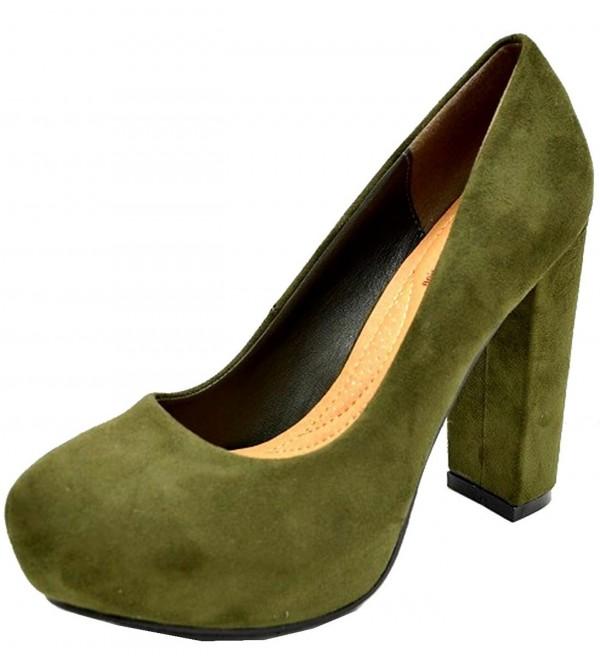 Elegant Footwear Womens Stacked Chunky