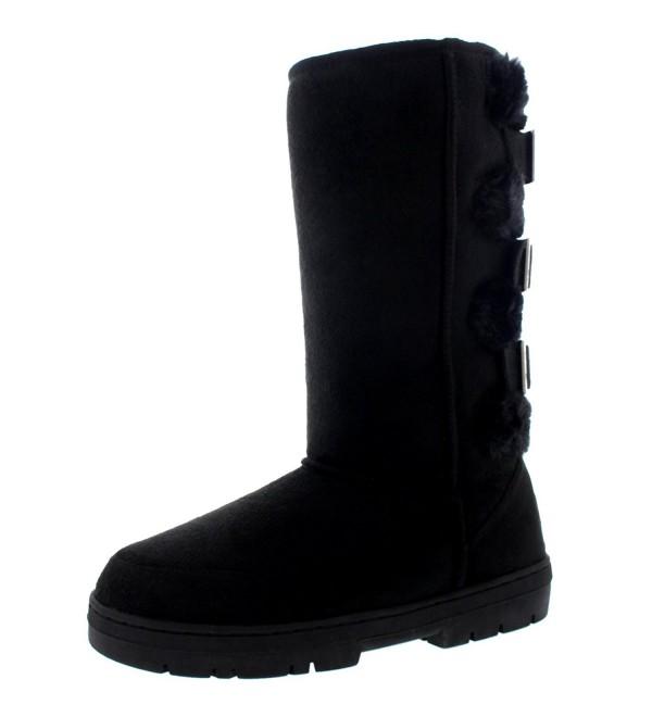 Womens Boots Buckle Waterproof Winter