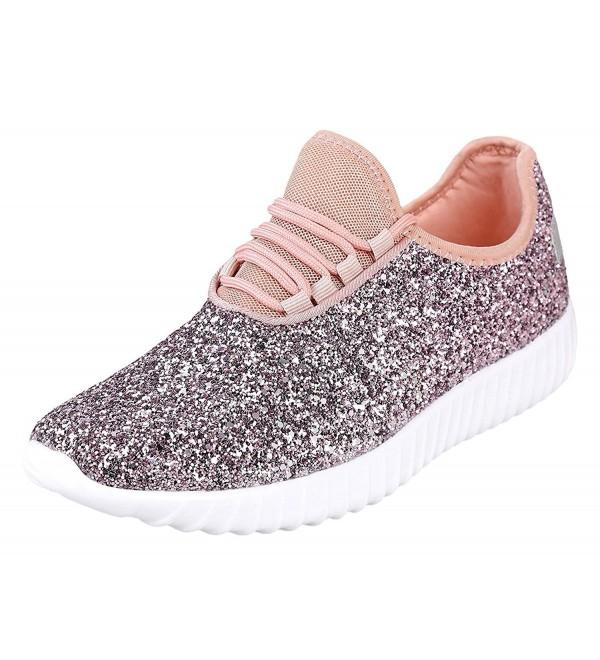Reveal Womens Glitter Fashion Sneaker