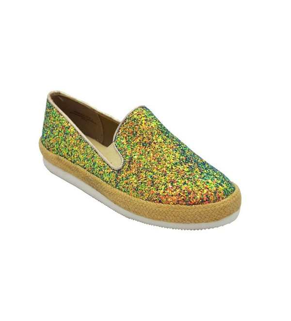 Bamboo Iridescent Glitter Loafers Sneakers