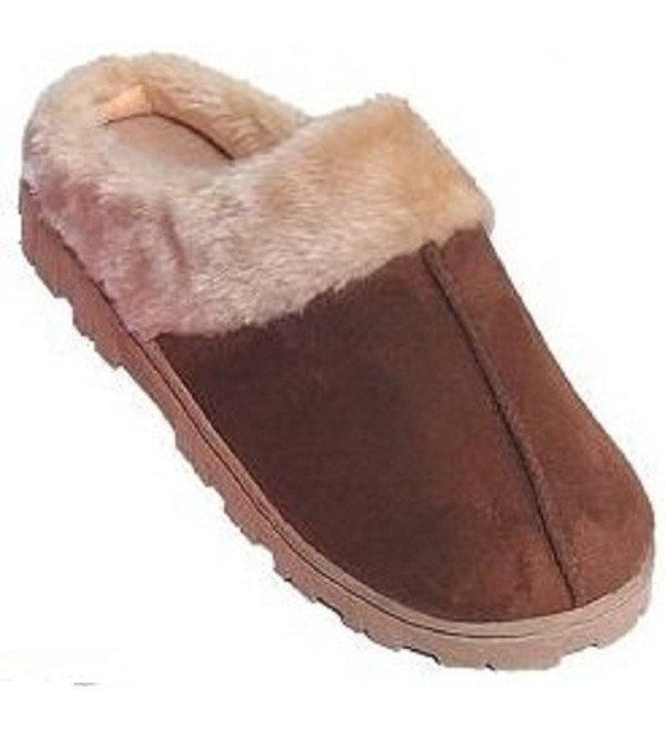 Womens Outdoor Shearling Slippers Chestnut