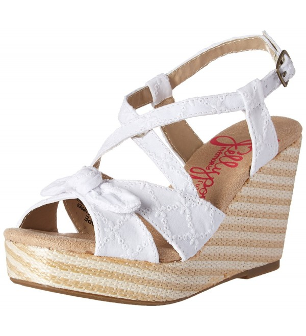 Jellypop Womens Wedge Sandal White