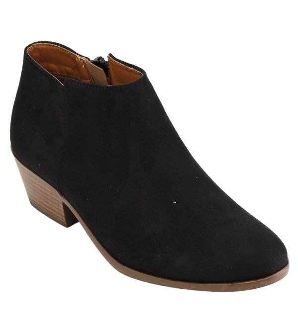 Soda Womens Western Stacked Booties