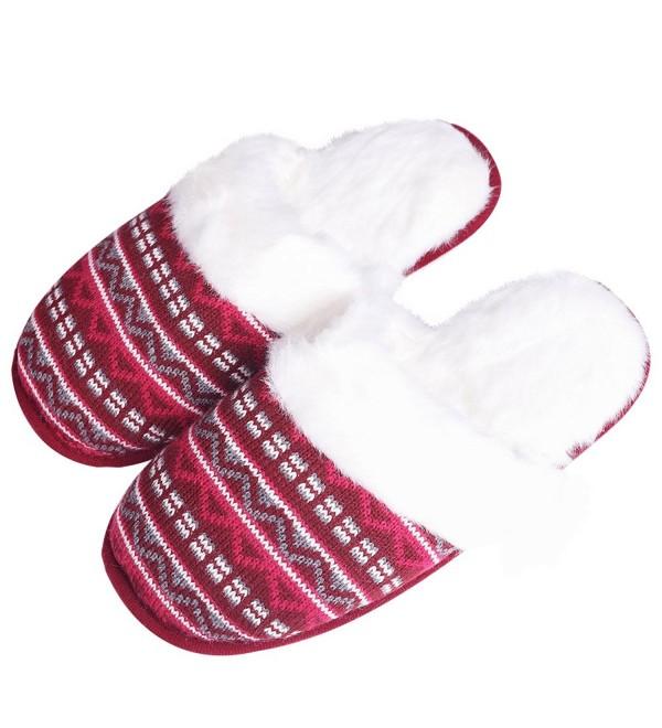iisutas Slippers Wool Like Anti Skid Multicolor