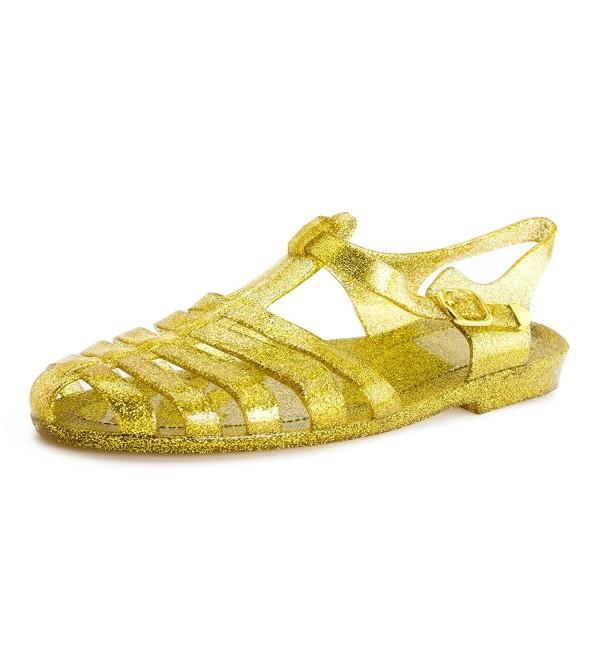 Womens Retro Buckle Closure Sandals