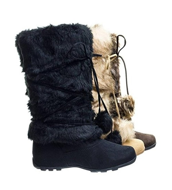 Black Mukluk Around Boots Winter