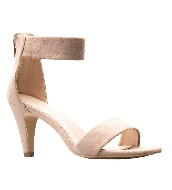 Womens Ankle Wedding Heeled Sandals