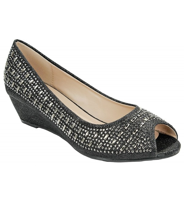 JJF Shoes Sparkle Glitter Rhinestone