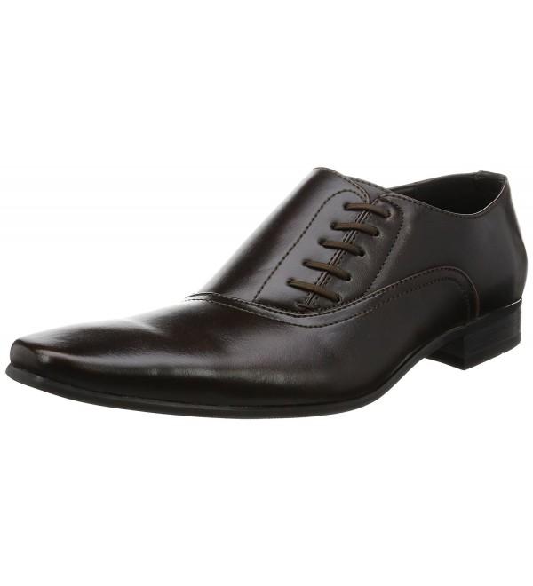 18b7c9435fd7 Oxford Shoes Mens Shoes Plain toe Side Lace up Shoes Black Brown ...
