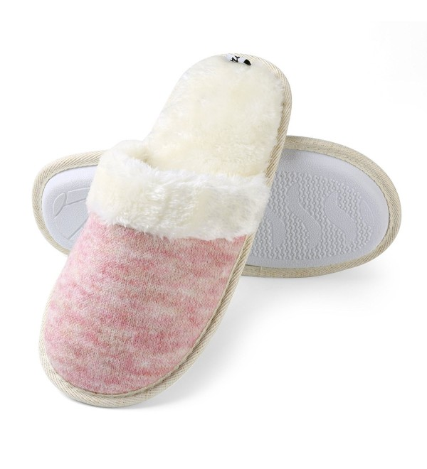 Aerusi Womens Fleece Memory Slipper