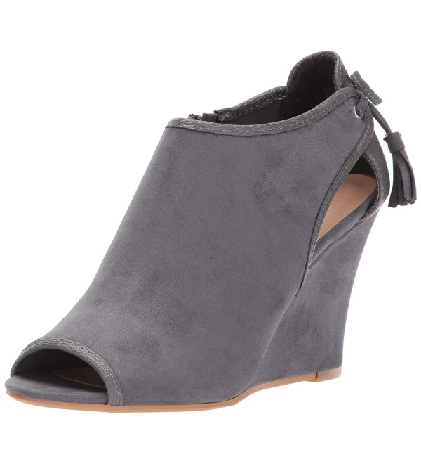 CL Chinese Laundry Charcoal Suede Snake