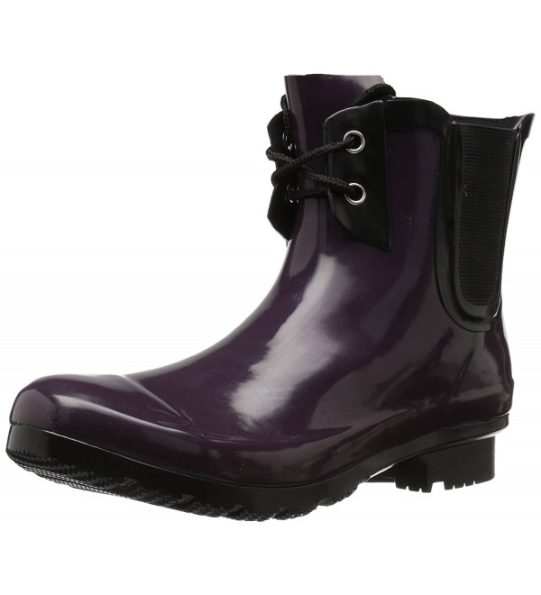 Roma Chelsea Lace Up Boots Eggplant