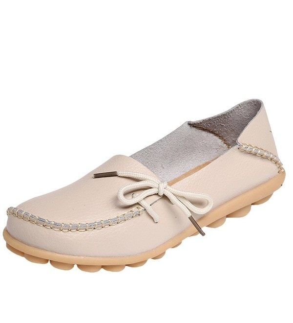 Mordenmiss Womens Casual Moccasins Leather