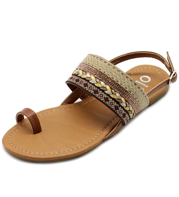 Ollio Womens Ethnic Sandals DOLLY01