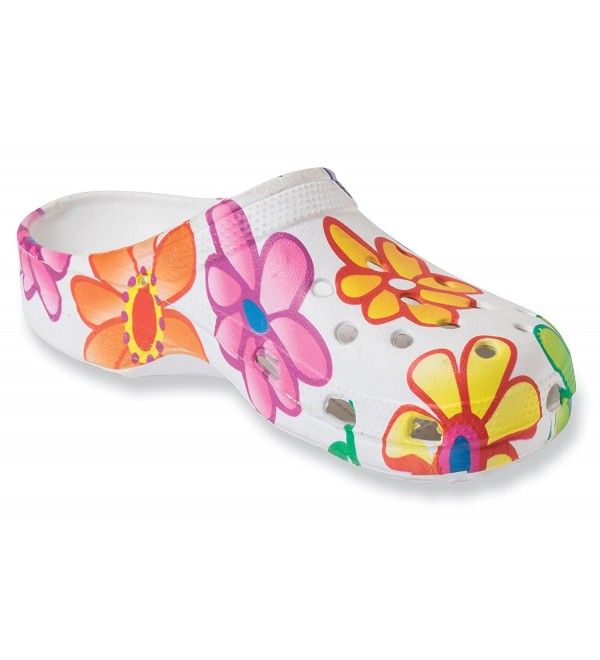 Paragon Womens Clogs Floral Shoes
