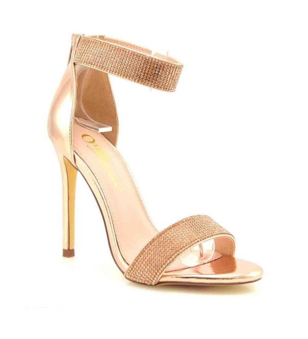 Womens Rhinestone Covered Stiletto Sandals