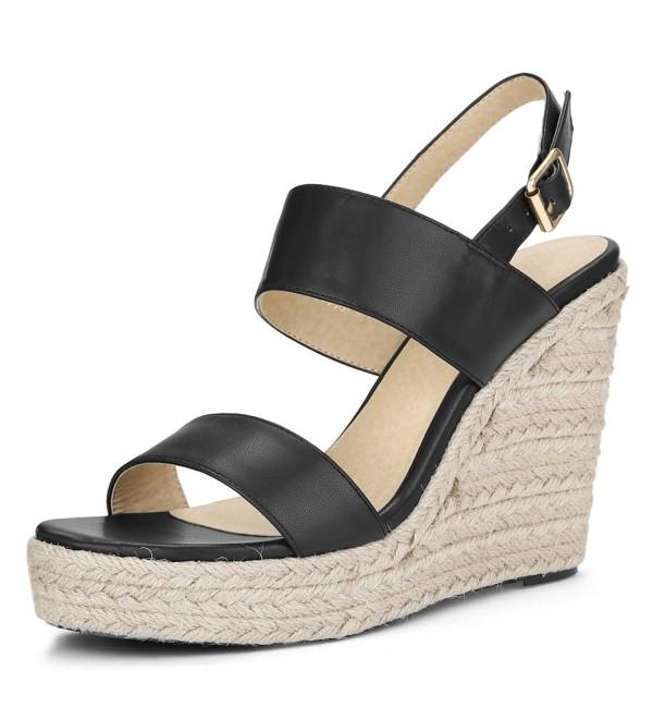 Allegra Womens Espadrille Platform Sandals
