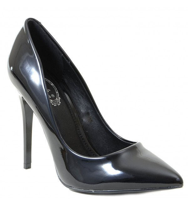 Black Patent Classic Pointy Womens