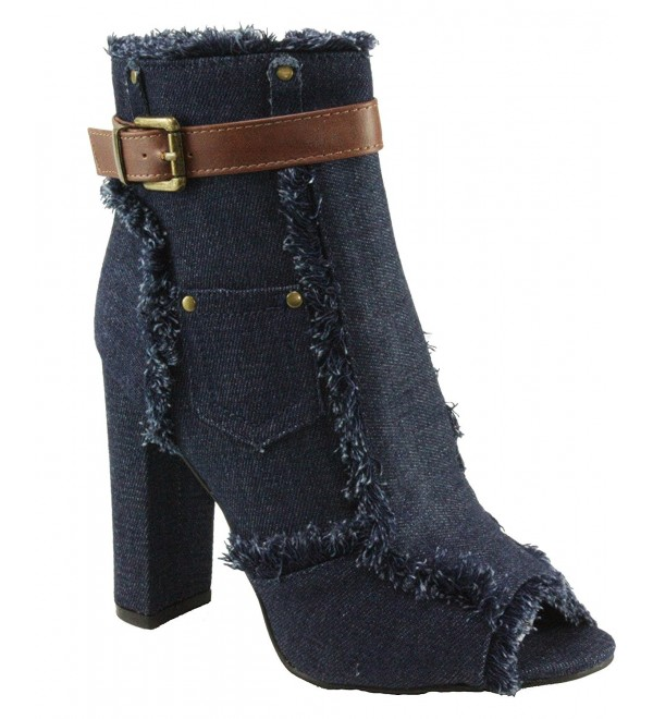 Forever Sherry 10 Peep Toe Ankle High Booties