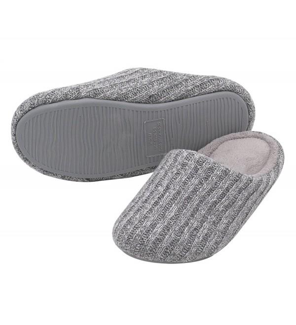 HomeIdeas Womens Knitted Anti Slip Slippers