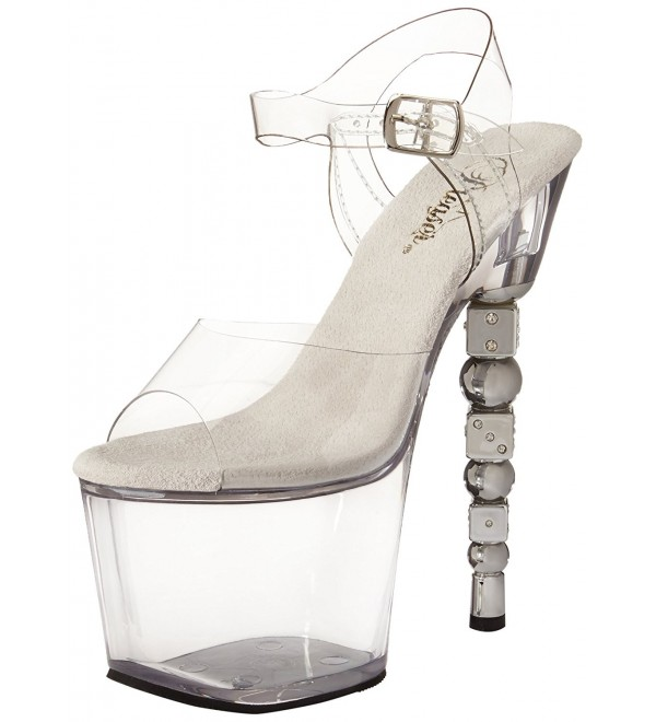 Pleaser Womens Dice 708 Platform Sandal
