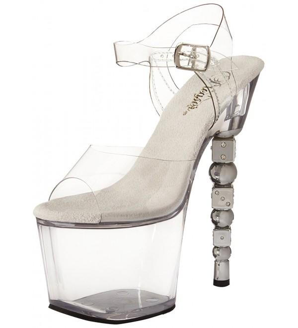 Pleaser Womens Dice 708 Platform Sandal