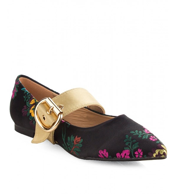 Robbin Womens Embroidered Floral Pointy