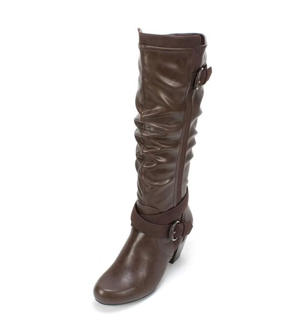Rialto Crystal Womens Boot Brown