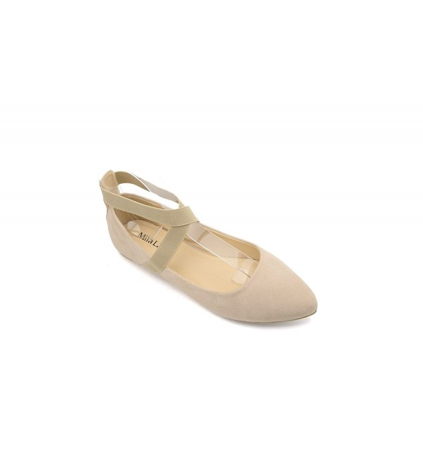 Mila Lady Fashion Crossing Shoes NUDE5 5