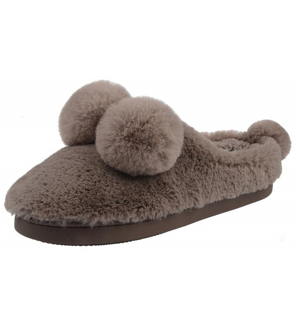 UIESUN Slippers Bedroom Slipper Brown 44