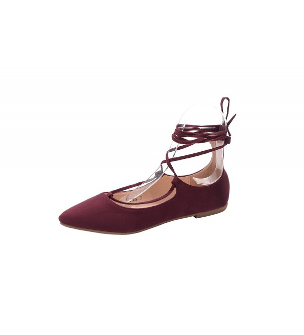 Mila Lady Fashion Shoes BURGUNDY10