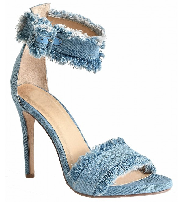 Womens Open Ankle Strap Sandals