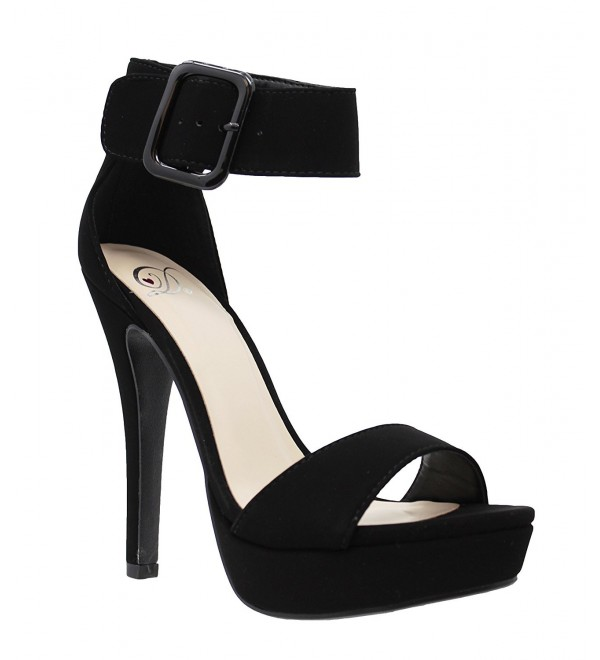MVE Shoes Womens Buckle Platform