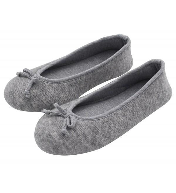 HomeTop Elegant Cashmere Ballerina Slippers