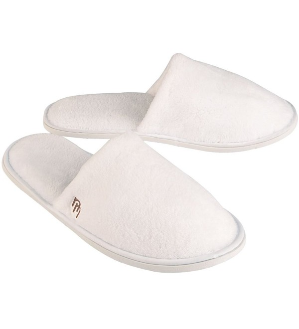 White Closed Fleece Travel Slipper