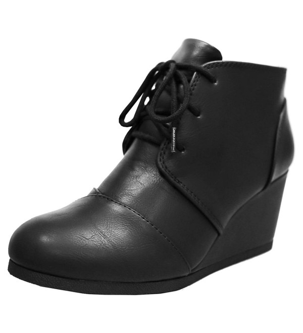 Cambridge Select Womens Wedge Bootie