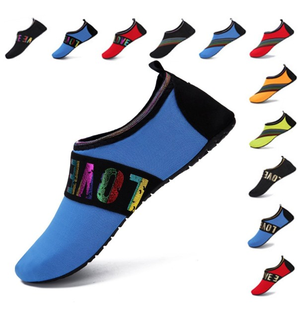 3e0d03c6fc8b Womens Mens Water Shoes Quick-Dry Barefoot Aqua Socks For Swim Beach ...