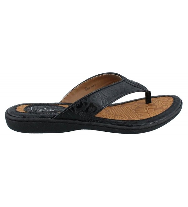 Womens Concept Thong Sandal Tooled