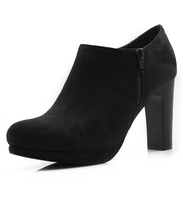 Allegra Womens High Black Booties
