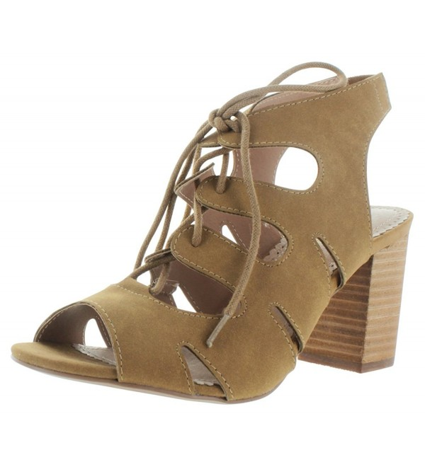Restricted Womens Lace Sandals Brown