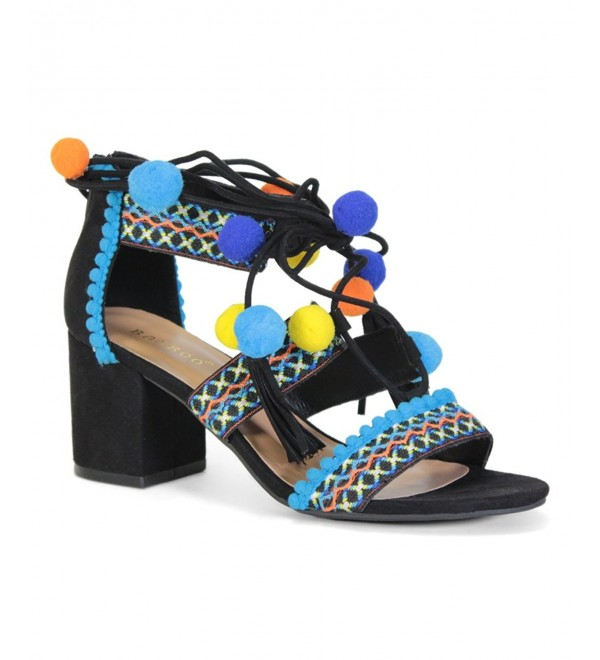 Bamboo Highlight Embroidered Multicolor Sandals