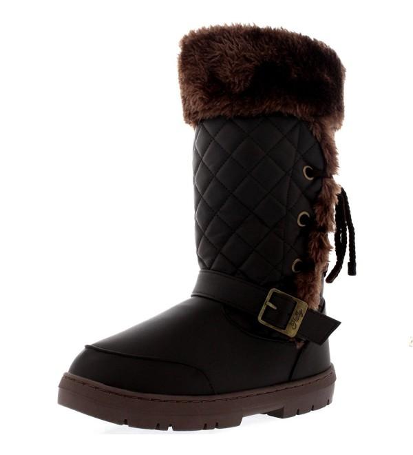 Womens Roap Buckle Winter Boots